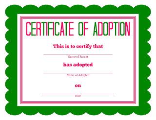 Child Adoption Certificate Template 10