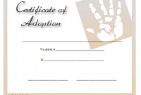 Child Adoption Certificate Template 3