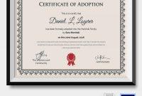 Child Adoption Certificate Template 4