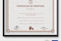 Child Adoption Certificate Template 5
