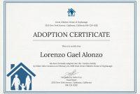 Child Adoption Certificate Template 9