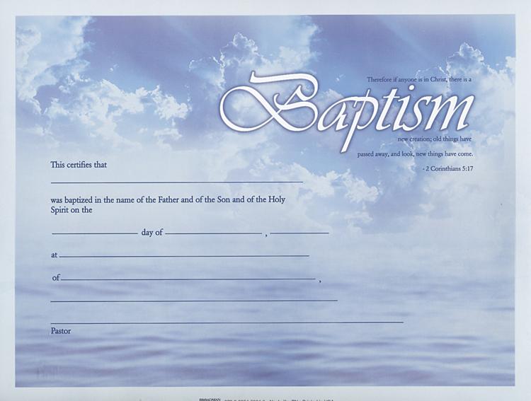 Christian Baptism Certificate Template 2