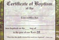 Christian Baptism Certificate Template 3