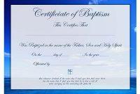 Christian Baptism Certificate Template 4