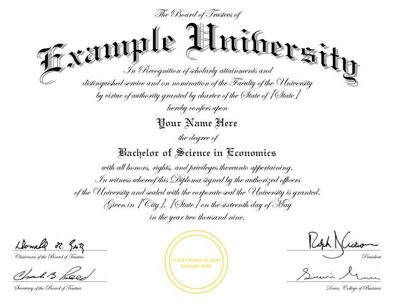College Graduation Certificate Template 3