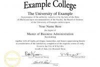 College Graduation Certificate Template 6