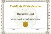 College Graduation Certificate Template 7