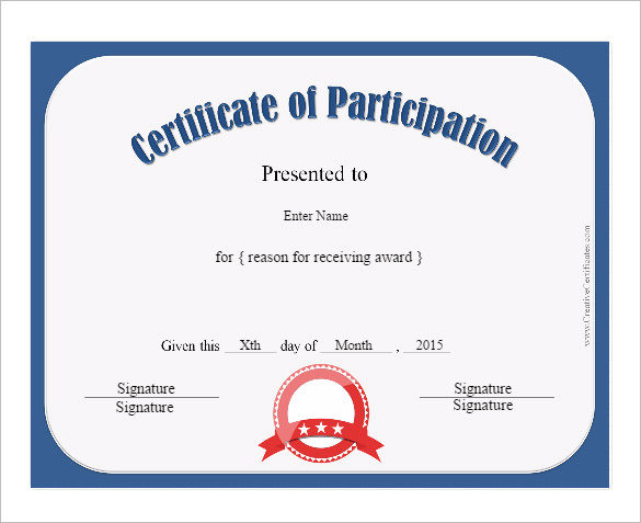 Conference Participation Certificate Template 11