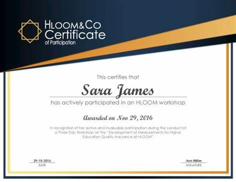 Conference Participation Certificate Template 3