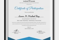 Conference Participation Certificate Template 4