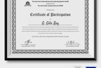 Conference Participation Certificate Template 9