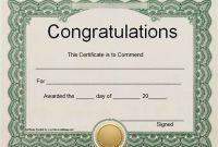 Congratulations Certificate Word Template 2
