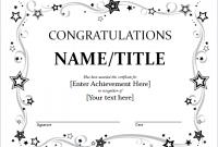 Congratulations Certificate Word Template 3