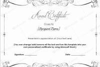 Congratulations Certificate Word Template 5