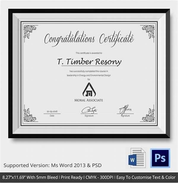 Congratulations Certificate Word Template 6