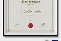 Congratulations Certificate Word Template 8