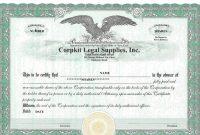 Corporate Bond Certificate Template 5