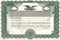 Corporate Bond Certificate Template 8