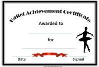 Dance Certificate Template 10