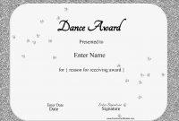 Dance Certificate Template 13