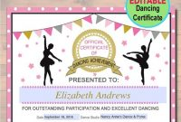 Dance Certificate Template 2