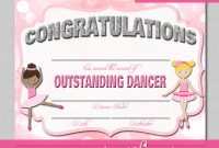 Dance Certificate Template 4
