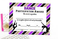 Dance Certificate Template 7