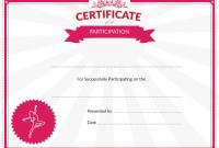 Dance Certificate Template 8