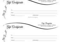 Dinner Certificate Template Free 2