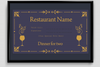 Dinner Certificate Template Free 5