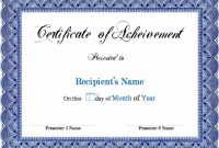 Downloadable Certificate Templates for Microsoft Word 11