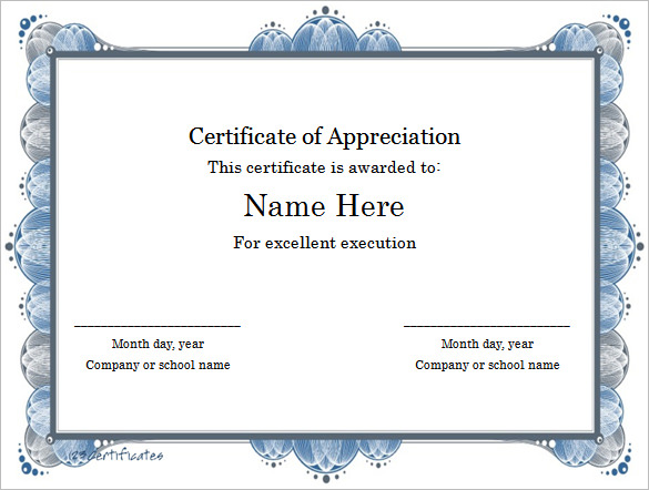 Downloadable Certificate Templates For Microsoft Word 3