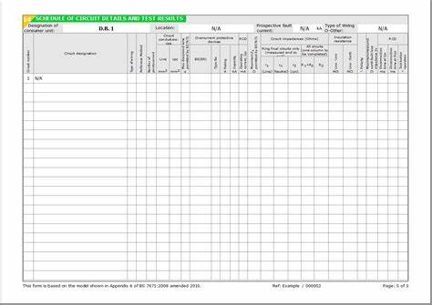 Electrical Installation Test Certificate Template 7