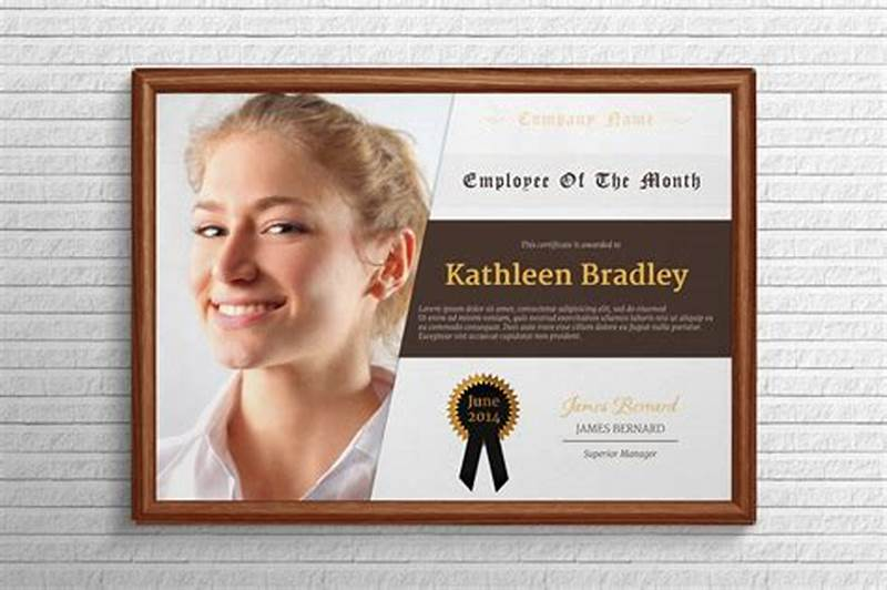 Employee Of The Month Certificate Template With Picture 2