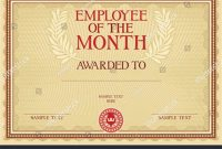 Employee Of the Month Certificate Template with Picture 3
