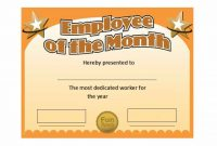 Employee Of the Month Certificate Template with Picture 4