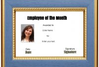 Employee Of the Month Certificate Template with Picture 5