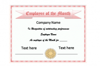 Employee Of the Month Certificate Template with Picture 9