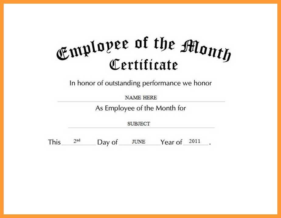 Employee Of The Year Certificate Template Free 11