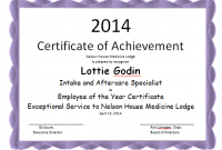 Employee Of the Year Certificate Template Free 4