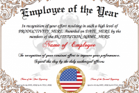 Employee Of the Year Certificate Template Free 8