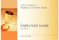 Employee Of the Year Certificate Template Free 9
