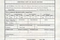 fake death certificate New Awesome Fake Death Certificate Template Example FE-55478