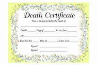 Fake Death Certificate Template 3