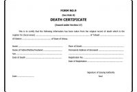 Fake Death Certificate Template 5