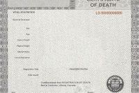 Fake Death Certificate Template 6