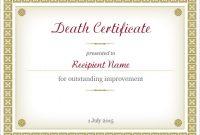 Fake Death Certificate Template 7