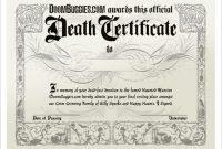 Fake Death Certificate Template 9