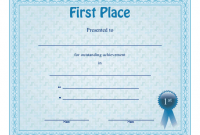 First Place Certificate Template 8