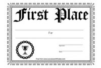 First Place Certificate Template 9